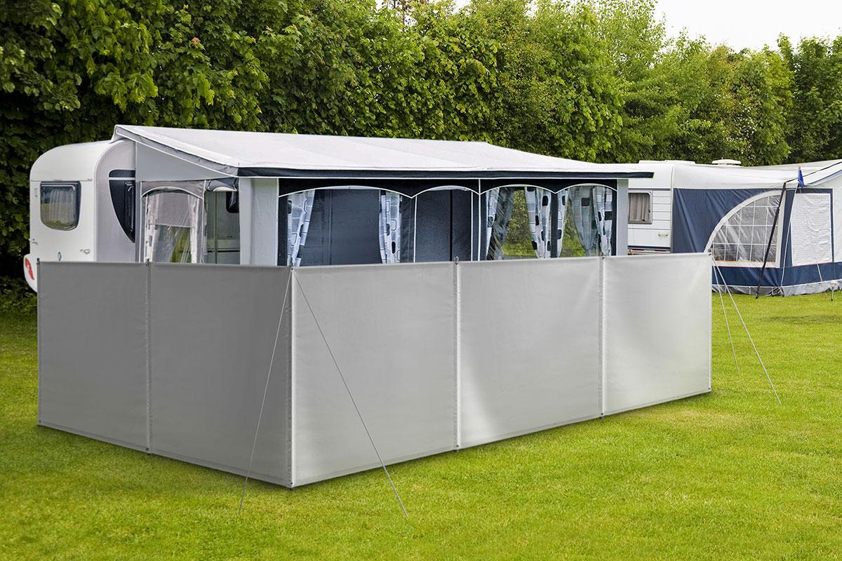 Windschutz Sichtschutz Camping aus LKW Plane 680g//m² stabil mit Laschen und Ösen