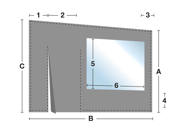 Carport Oder Terrassenplane Mit 1x Fenster Tur