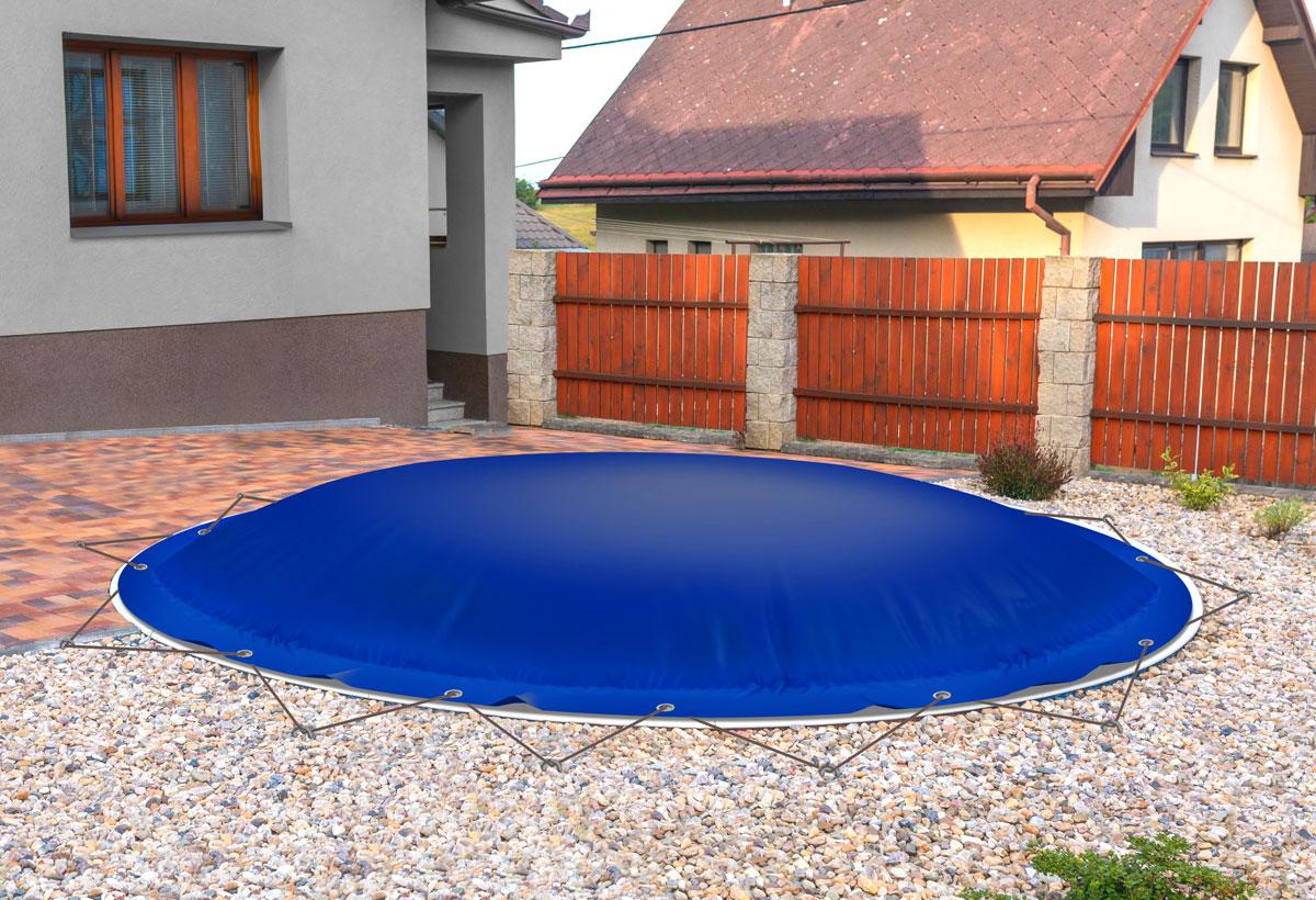 Runde-Auflasbare-Poolplane-kobaltblau