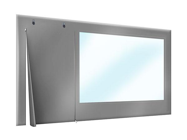 PVC Plane Terrasse oder Carport mit Tür und Sichtfenster